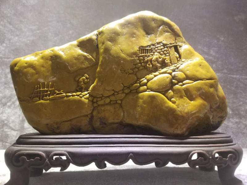 精雕细琢寿山石